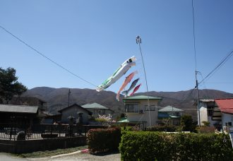 Carp kites in Japan to celebrate children's day